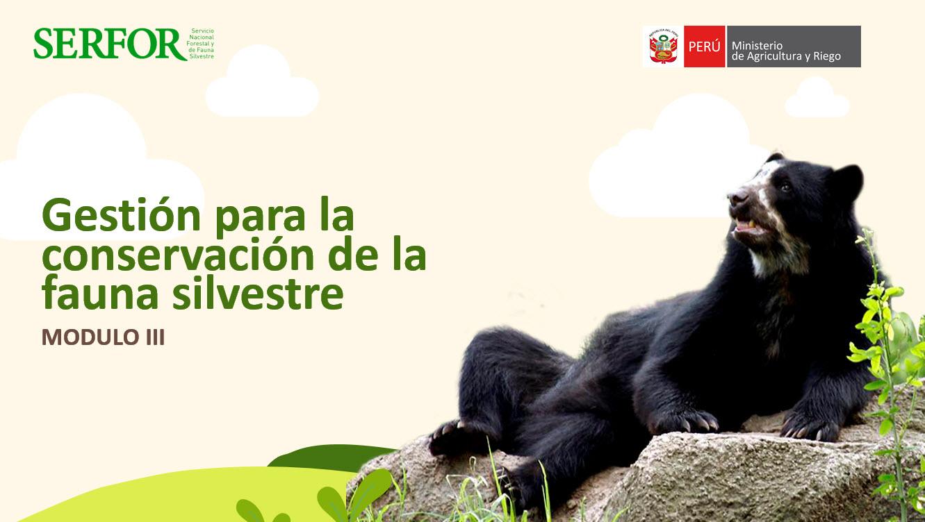 Gestión para la conservación de la fauna silvestre   Módulo III